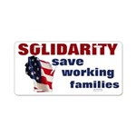 Solidarity - Union - Recall W Aluminum License Pla