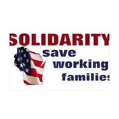 Solidarity - Union - Recall W 38.5 x 24.5 Wall Pee