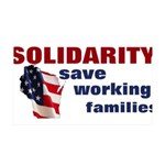 Solidarity - Union - Recall W 38.5 x 24.5 Wall Pee