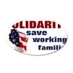 Solidarity - Union - Recall W 38.5 x 24.5 Oval Wal