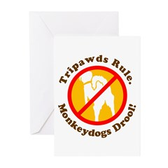 Monkeydogs Drool Greeting Cards (Pk of 10)
