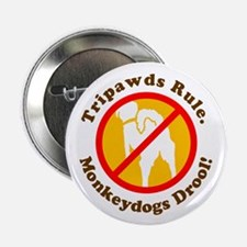 "Monkeydogs Drool 2.25"" Button (10 pack)"