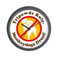 Monkeydogs Drool Wall Clock