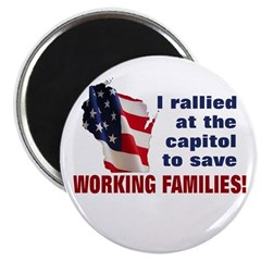 """Solidarity - Union - Recall W 2.25"""" Magnet (1"""
