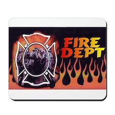 FIRE DEPT FLAMES Mousepad