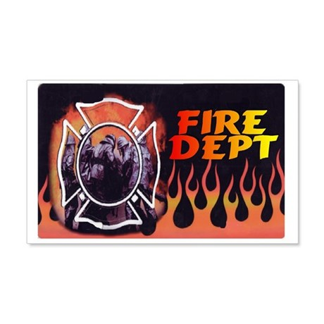 FIRE DEPT FLAMES 22x14 Wall Peel