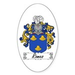 Romeo Coat of Arms Oval Sticker