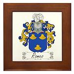 Romeo Coat of Arms Framed Tile