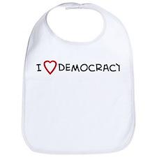 I Love Democracy Bib