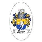 Romano Coat of Arms Oval Sticker