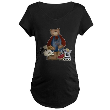 9th Birthday Maternity Dark T-Shirt