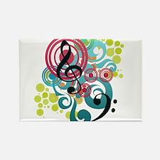 Music Swirl Rectangle Magnet (10 pack)
