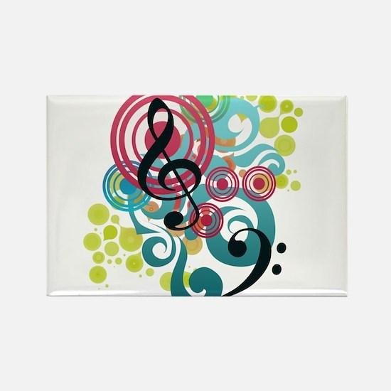 Music Swirl Rectangle Magnet