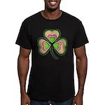 Psychedelic Shamrock Men's Fitted T-Shirt (dark)