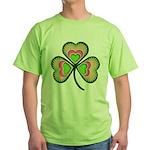 Psychedelic Shamrock Green T-Shirt
