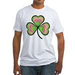 Psychedelic Shamrock Fitted T-Shirt