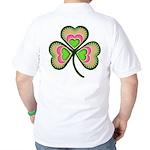 Psychedelic Shamrock Golf Shirt
