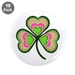"""Psychedelic Shamrock 3.5"""" Button (10 pack)"""