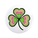 """Psychedelic Shamrock 3.5"""" Button (100 pack)"""
