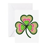 Psychedelic Shamrock Greeting Cards (Pk of 10)