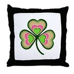 Psychedelic Shamrock Throw Pillow