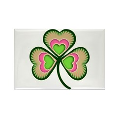 Psychedelic Shamrock Rectangle Magnet (10 pack)