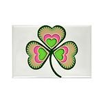 Psychedelic Shamrock Rectangle Magnet (100 pack)
