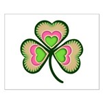 Psychedelic Shamrock Small Poster