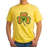 Psychedelic Shamrock Yellow T-Shirt