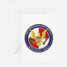 Neighborhood Nuke Watch -  Greeting Cards (Package