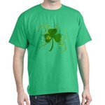 St Paddys Day Fancy Shamrock Dark T-Shirt