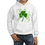 St Paddys Day Fancy Shamrock Hooded Sweatshirt