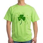 St Paddys Day Fancy Shamrock Green T-Shirt