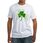 St Paddys Day Fancy Shamrock Fitted T-Shirt