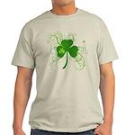 St Paddys Day Fancy Shamrock Light T-Shirt