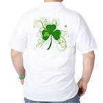St Paddys Day Fancy Shamrock Golf Shirt