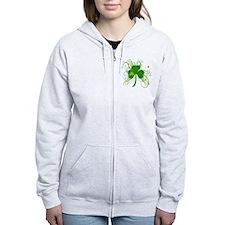Cool St Patricks Day Shamrock Zip Hoodie