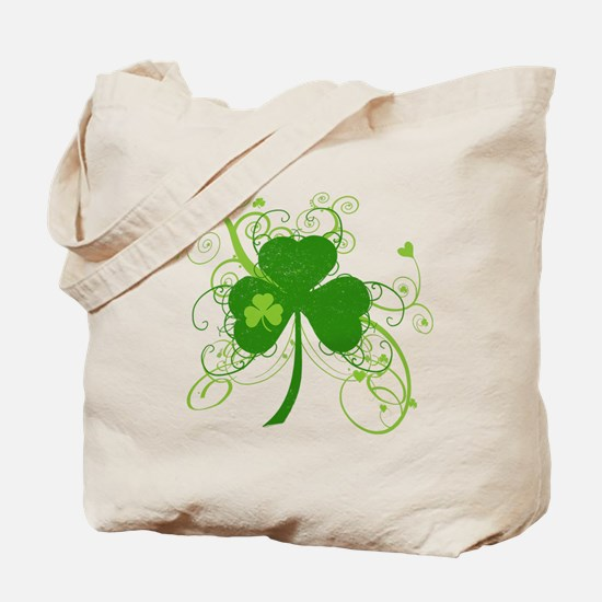 St Paddys Day Fancy Shamrock Tote Bag