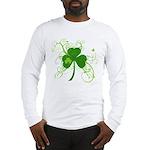 St Paddys Day Fancy Shamrock Long Sleeve T-Shirt