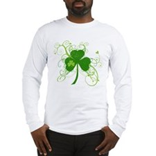 Cool St Patricks Day Shamrock Long Sleeve T-Shirt