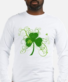St Paddys Day Fancy Shamrock Long Sleeve T-Shirt