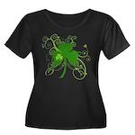 St Paddy Women's Plus Size Scoop Neck Dark T-Shirt