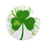 St Paddys Day Fancy Shamrock Button
