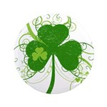"""St Paddys Day Fancy Shamroc 3.5"""" Button (100 pack)"""