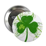 """St Paddys Day Fancy Shamro 2.25"""" Button (100 pack)"""