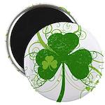 St Paddys Day Fancy Shamrock Magnet