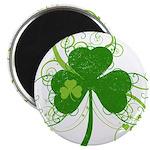 "St Paddys Day Fancy Shamroc 2.25"" Magnet (10 pack)"