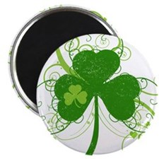 "Cool St Patricks Day Shamrock 2.25"" Magnet (10 pac"