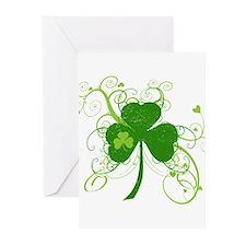 Cool St Patricks Day Shamrock Greeting Cards (Pk o
