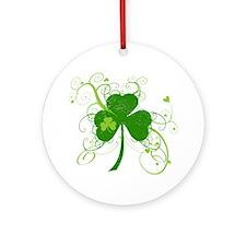 Cool St Patricks Day Shamrock Ornament (Round)